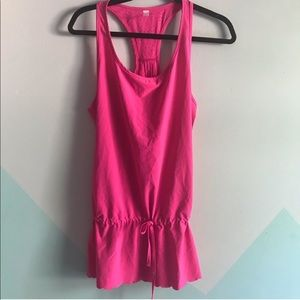 Lucy pink scalloped edge athleisure athletic top
